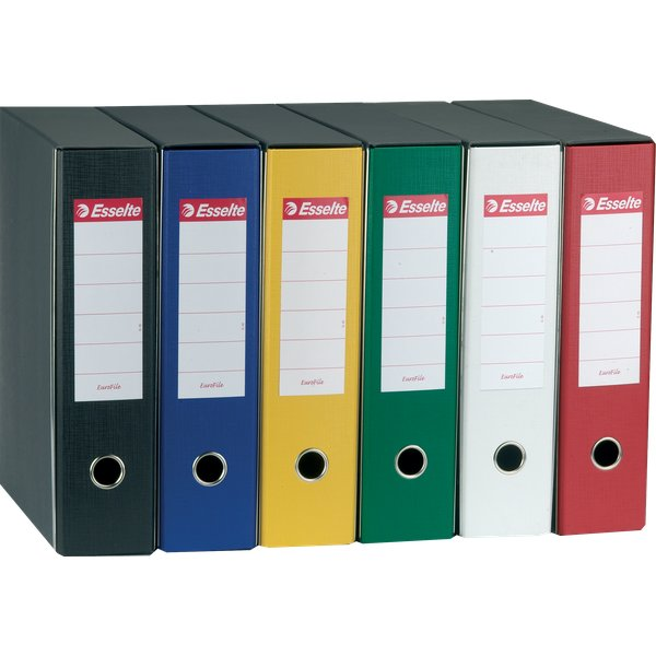 Registratori Eurofile Esselte - Protocollo - dorso 8 - F.to utile 23x33 cm - bianco - 390755040