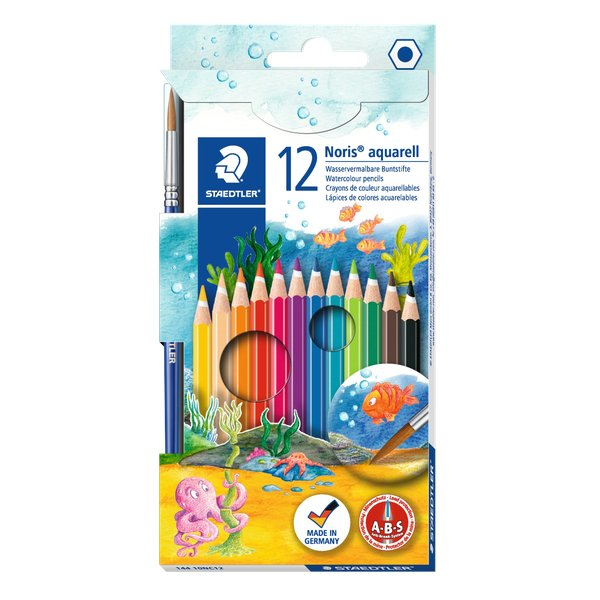 Matite colorate acquerellabili Noris club® colors Staedtler - 144 10NC12 (conf.12)