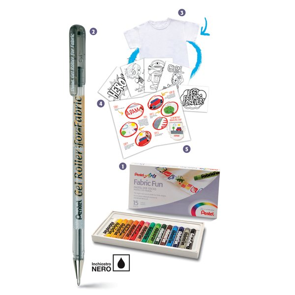 Value pack pastelli per tessuto Pentel - 0100966