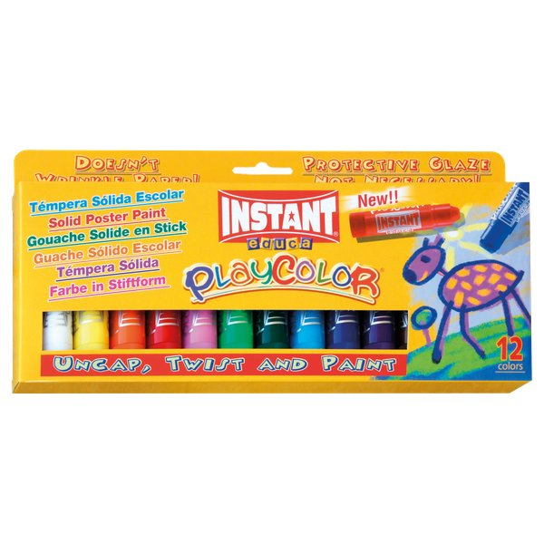 Tempera solida Playcolor Maped - da 3 anni - 10731 (conf.12)