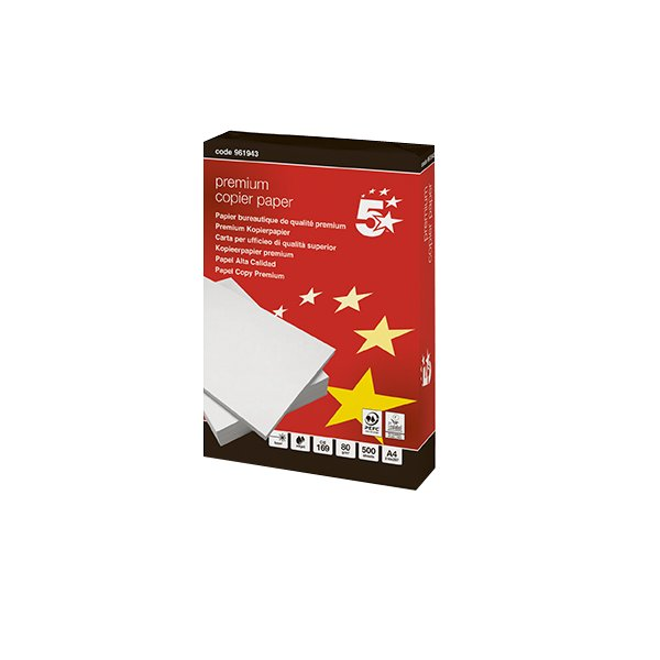 Carta 5 Star Gold - A4 - 80 g/mq - 410372 (conf.5)