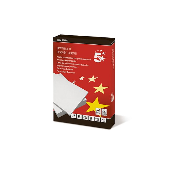 Carta  5 Star Gold - A4 - 80 g/mq - 410380 (conf.50)